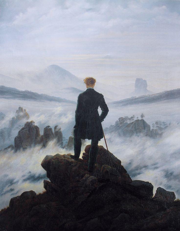 El caminante sobre el mar de nubes.- Caspar David Friedrich.
