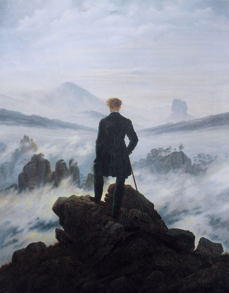 Caspar David Friedrich - 'Wanderer Over the Sea of Fog
