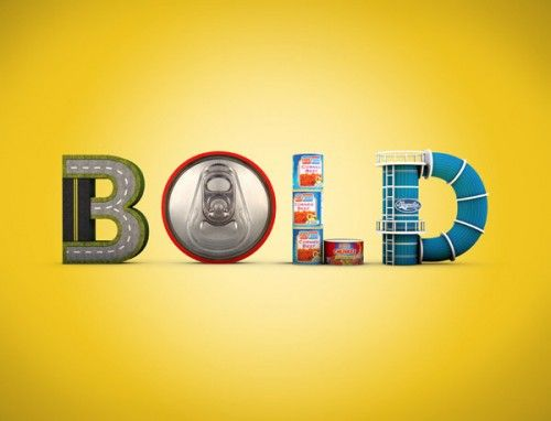 Be Bold: Awesome 3D, Johannes Paolo, Typography Design, Graphics Design, Types Design, Calendar Design, Motion Graphics, 3D Types, 3D Typography