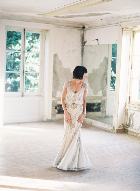Gorgeous sparkling 1920s inspired gown