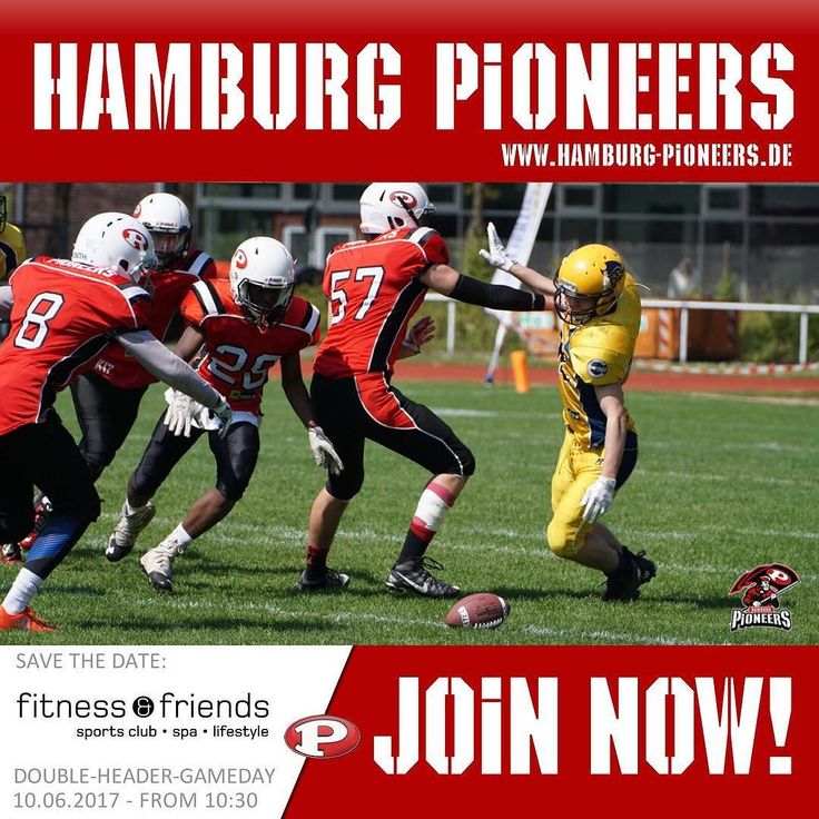 Only five more days until fitness & friends double header gameday. On 10th of June from 10:30 am hosted on the Hamburg Pioneers Homefield right in the heart of Hamburg. #football #ball #pass #footballgame #footballseason #footballgames #footballplayer #hamburg #nfl #jersey #stadium #field #yards #picoftheday #season2k17 #youth #touchdown #coaches #quarterback #stadtpark #finish #nfl #u16 #kickoff #love #gobigred #stadtparkpower #pioneers #onefootballfamily #redguardians
