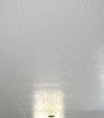 I love this faux tin ceiling idea.