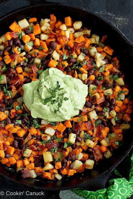 Sweet Potato Hash Recipe with Creamy California Avocado Sauce | Recipe