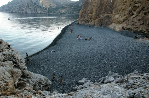 Chios - Black  bullets (The beach with the volcano pebbles)