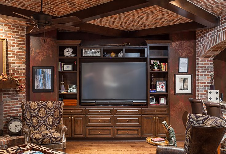 Make a media wall make design sense with beams and custom trim from BMC Design. : bmc doors houston - pezcame.com