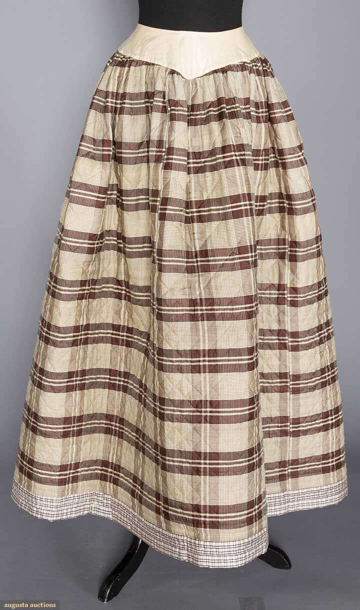 Boned & Hand Quilted Petticoat (image 4) | 1840s | silk | Augusta Auctions | November 16, 2016