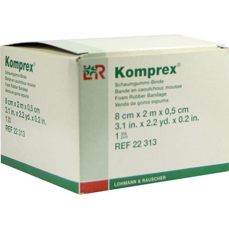 KOMPREX Schaumgummi Binde 8 cmx2 m Stärke 0,5 cm:   Packungsinhalt: 1 St Binden PZN: 00590993 Hersteller: Lohmann & Rauscher GmbH & Co.KG…