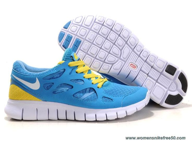 New Mens Nike Free Run 2 Blue Yellow Shoes Lightweight Shoes