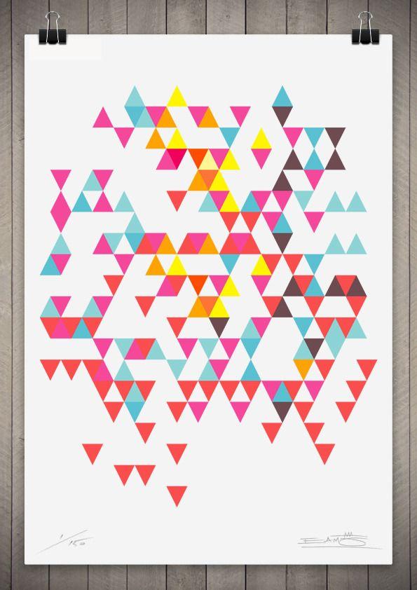 Image of Tri Colour Series Number 7   111cm x 76cm