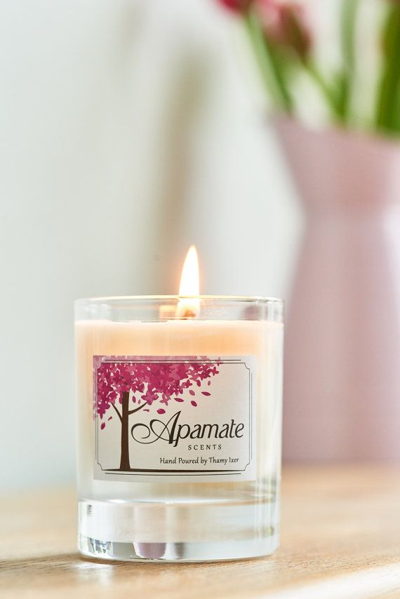 Soy Candle with Verbena and Lemon aromatherapy by ApamateScents
