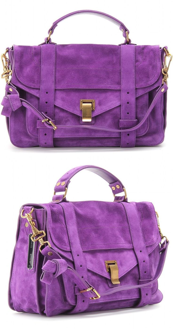 Proenza Purple Suede Handbag ♥