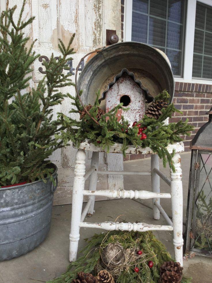 Christmas/ winter porch