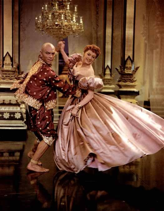 Yul Brynner and Deborah Kerr in The King and I, 1953 classic movie.