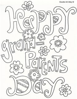 Grandparents Day Coloring Sheets