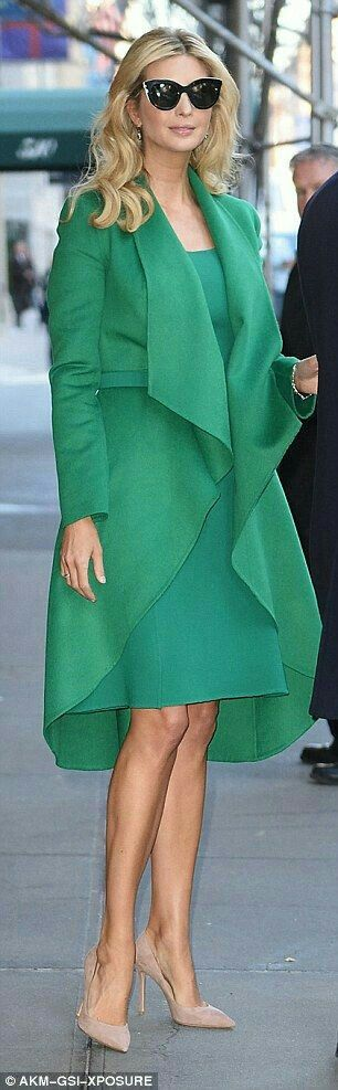 ~ The beautiful Ivanka Trump-Kushner looking fab dressed in a light green ensemble. ~