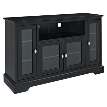 Walker Edison Highboy Wood Tv Stand Black Target