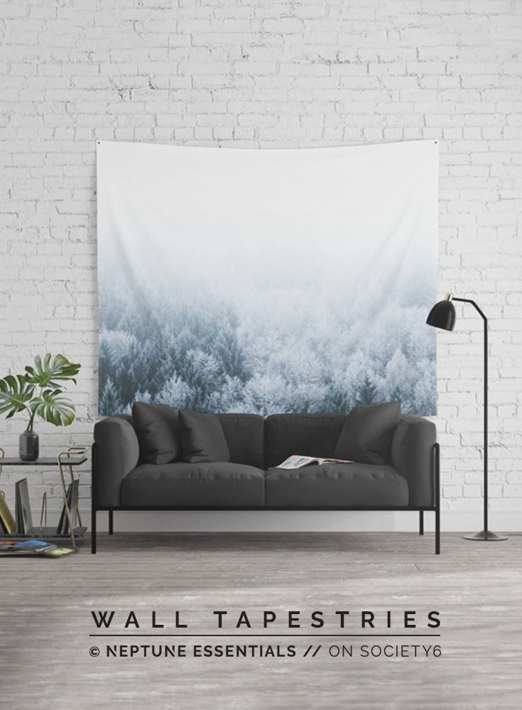 White Forest Wall Tapestry    Available in three distinct sizes, our Wall Tapestries are made of 100% lightweight polyester with hand-sewn finished edges. Featuring vivid colors and crisp lines, these highly unique and versatile tapestries are durable enough for both indoor and outdoor use. Machine washable for outdoor enthusiasts, with cold water on gentle cycle using mild detergent - tumble dry with low heat.