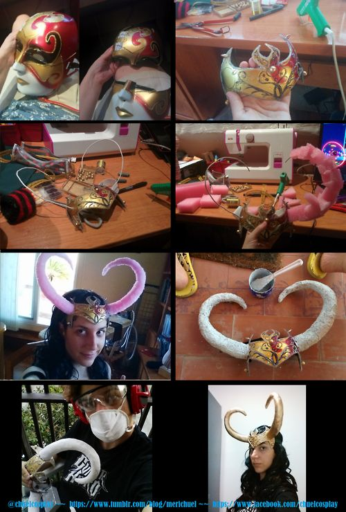 HOW TO make Lady Loki Horns.  Absolutely genius.  Why didn't I think of this?!