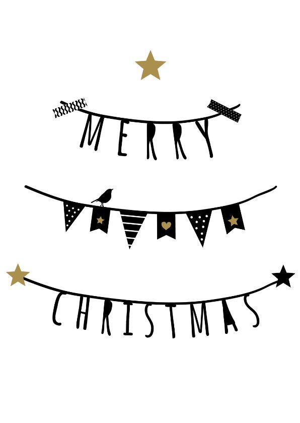 Kerst - Slingers Merry Christmas, verkrijgbaar bij #kaartje2go voor €0,99
