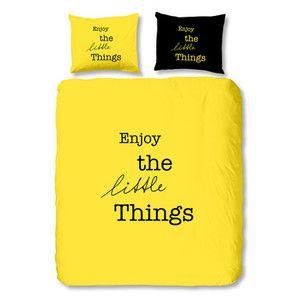 Povlečení Muller Textiel Enjoy, 140x200 cm, žluté