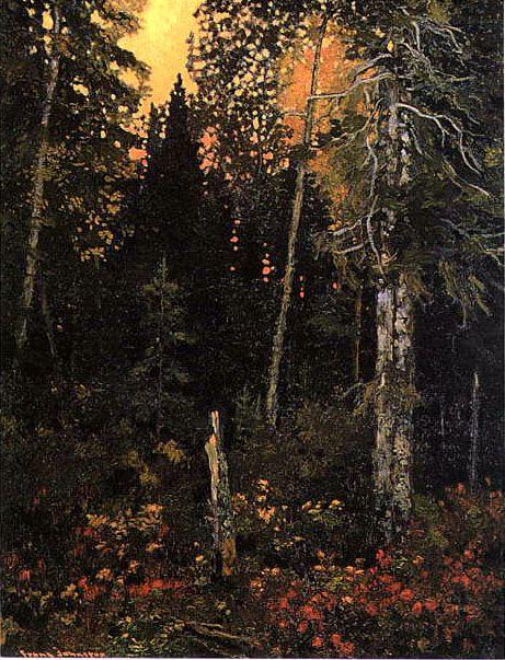 Sunset in the Bush - Frank Johnston, 1918