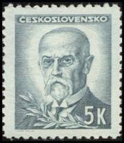 Znaczek: Tomáš Garrigue Masaryk (1850-1937), president (Czechosłowacja) (Portraits) Mi:CS 471,Sn:CS 298,Yt:CS 413,AFA:CS 327,POF:CS 424