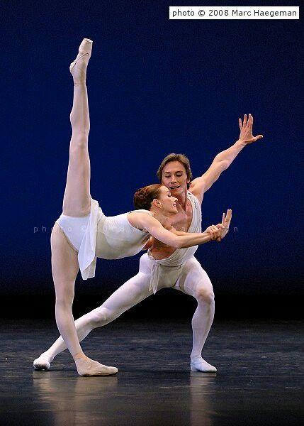 "Irina Dvorovenko and Maxim Beloserkovsky in Balanchine's""Apollo"" /American Ballet Theatre/photo by Marc Haegeman 2008"