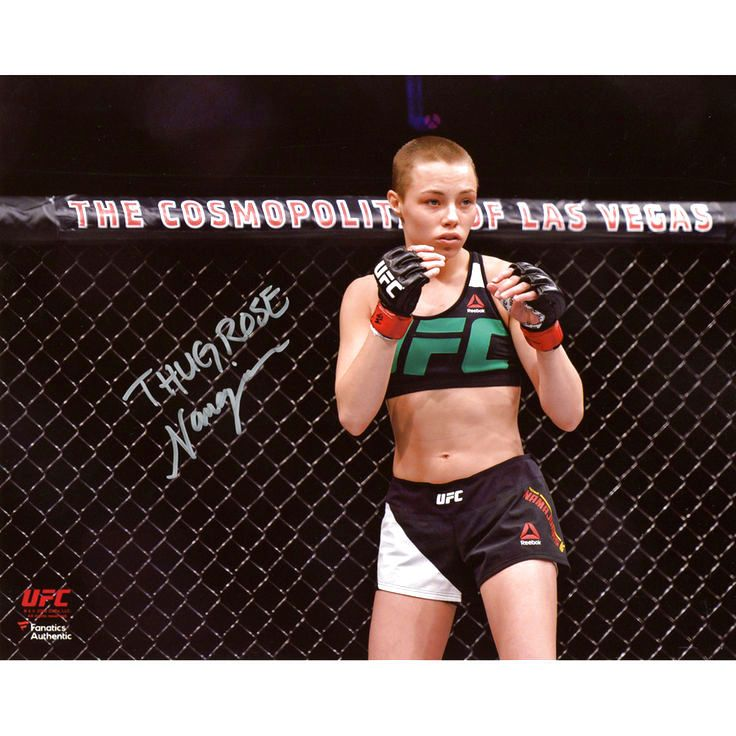"""Rose Namajunas Ultimate Fighting Championship Fanatics Authentic Autographed 8"""" x 10"""" Horizontal Standing In Cage Photograph - $31.99"""