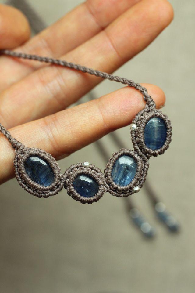 カイヤナイト ネックレス | Yuji macrame creations