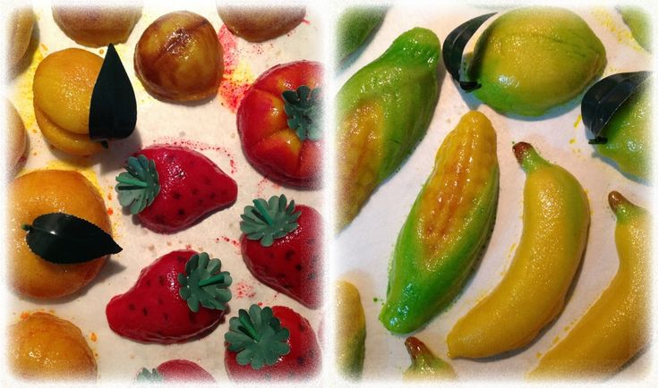 Frutta Martorana appena pitturata