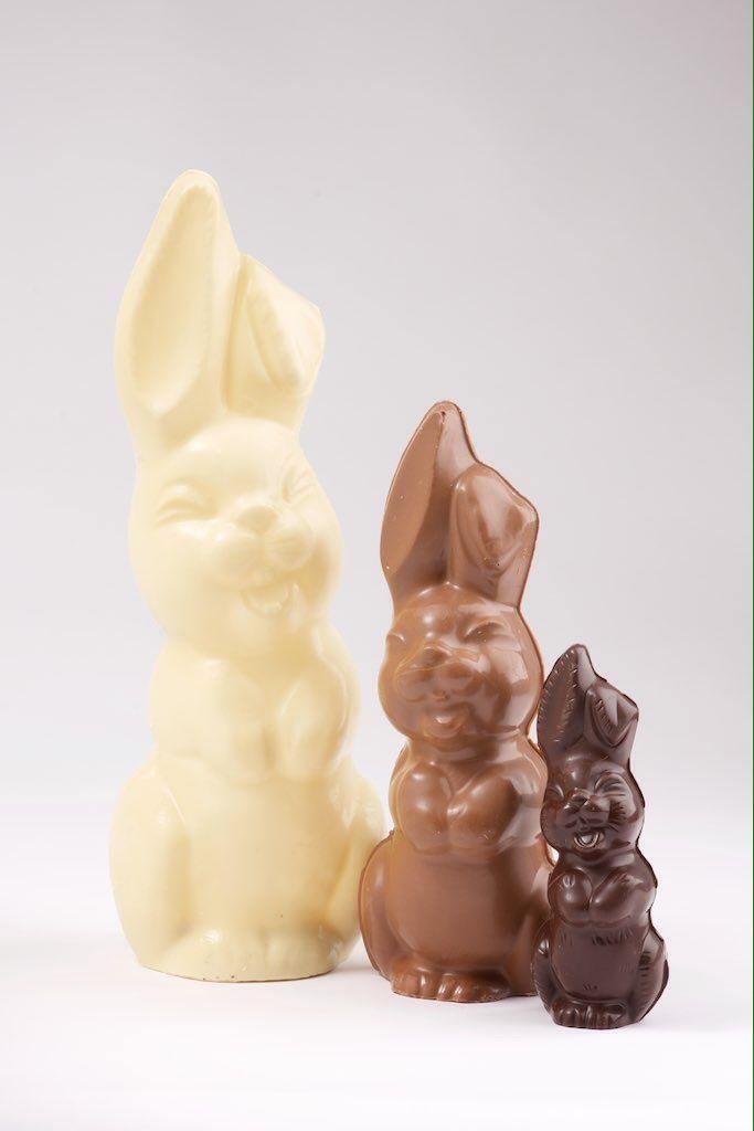 Lapin rieur Chocolat blanc zéphyr Chocolat au lait Ghana  Chocolat noir st Domingues