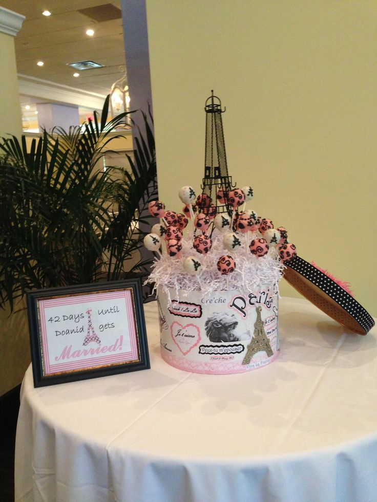 Paris Themed Bridal Shower Cake Pops!