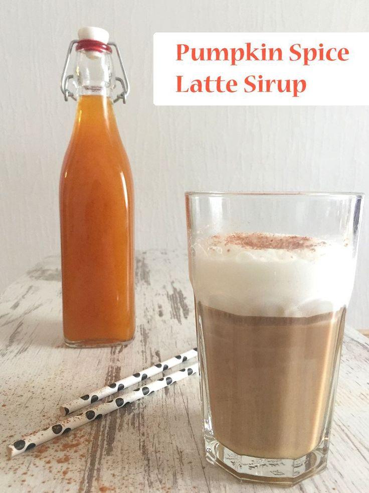 Rezept für selbst gemachten Pumpkin Spice Latte Sirup