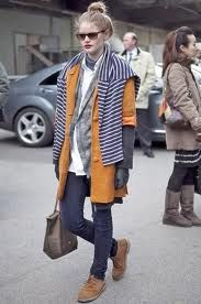 Just bought a pair of desert boots and I'm still figuring out how to style them… this is a good winter look!