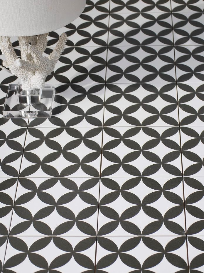 Black And White Decorative Tile Floor Decorative Tile In