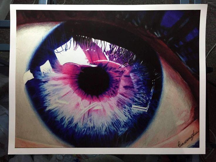 Colorful Eye Drawing Print