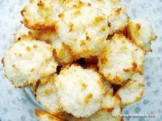 Für lecker! befunden: Kokosmakronen - super saftig, mit raffinierter Methode: das Eiweiss wird nicht schaumig geschlagen, sondern gekocht!