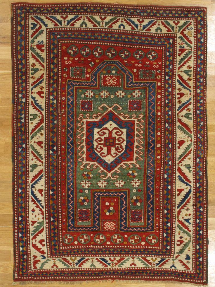 Fachralo Prayer Kazak Rug From Southwest Caucasus Age Circa 1870 Size 6