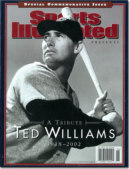 On the Cover: Ted Williams, Baseball, Boston Red Sox  Photographed by: Hy Peskin / SI