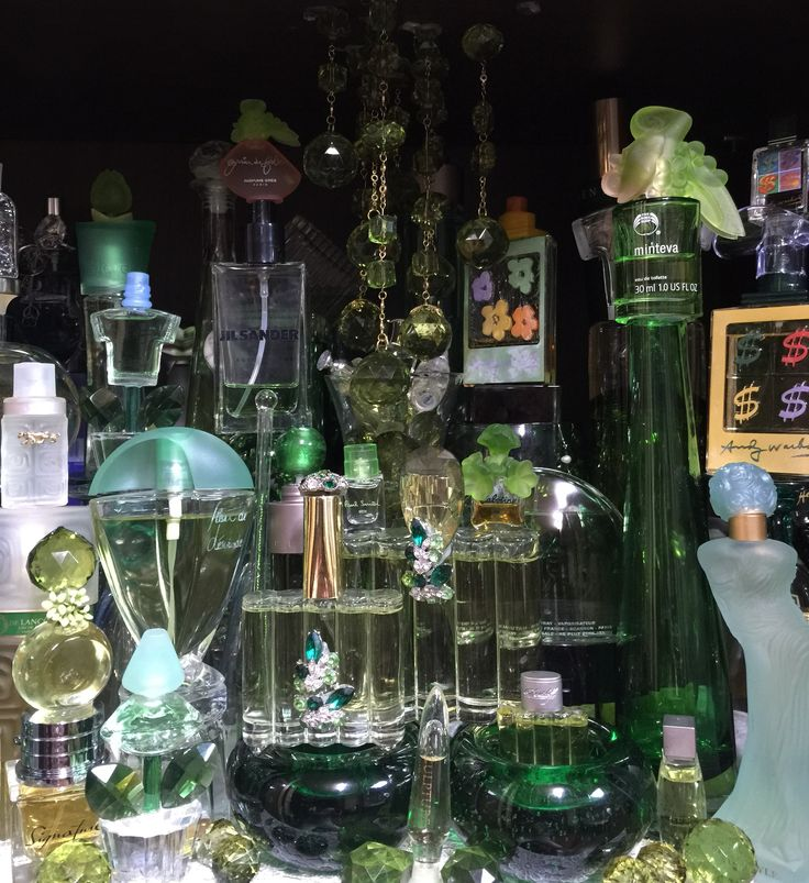 My green color perfumes collation !!