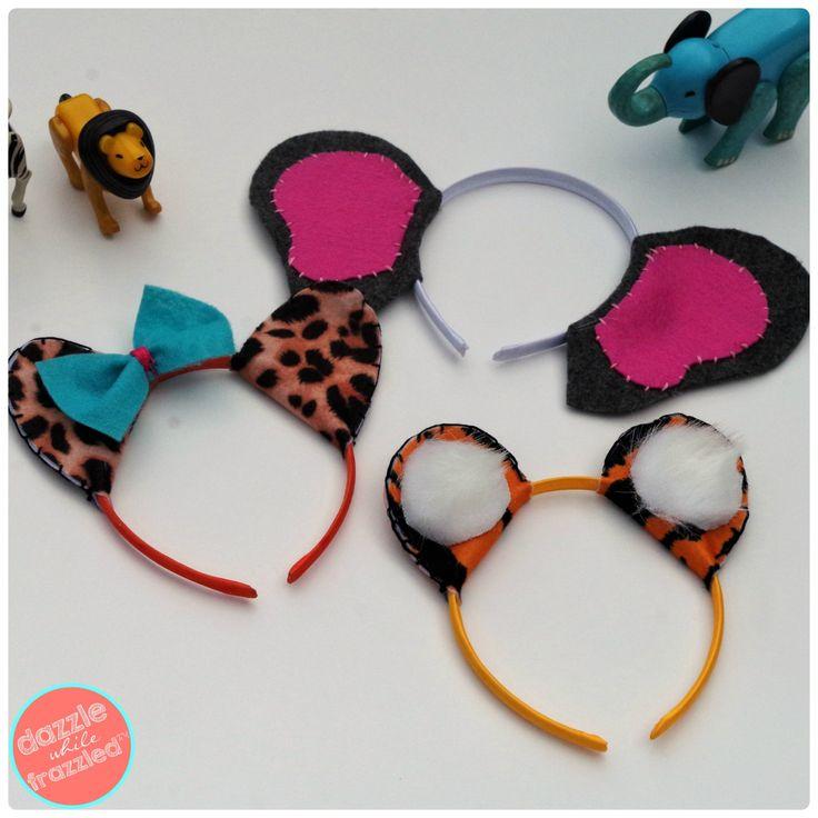 How to make animal-themed headbands using craft felt   DazzleWhileFrazzled.com