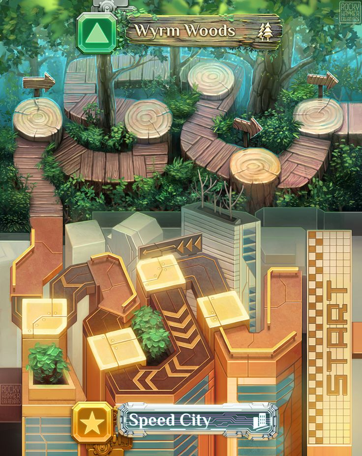 Dragon Racer - Collaborative Background Illustrations on Behance