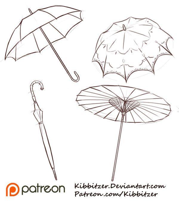 Umbrellas Reference Sheet by Kibbitzer.deviantart.com on @DeviantArt