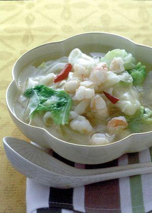 白菜とえびのスープ