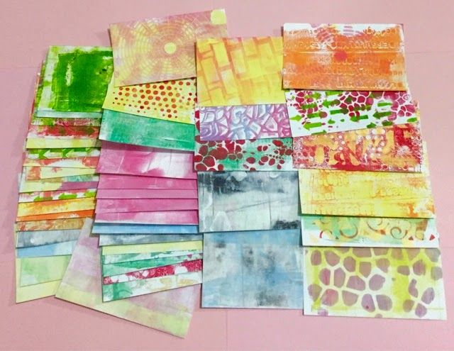 Index Card A Day Backgrounds For 3x5 Cards Using The Gelli Plate