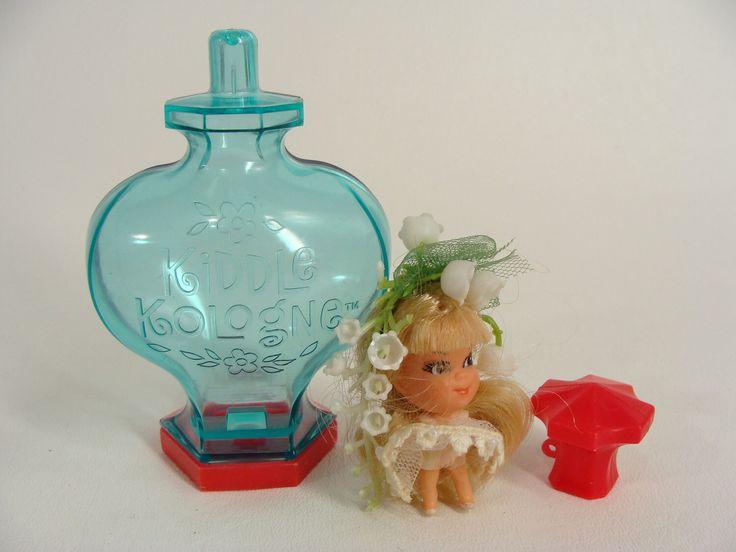 vintage 60s 1967 Kiddle Kologne. LILY Of The VALLEY. Scented Doll. Liddle Kiddles. W/ Original Cologne Bottle & Hair Tie Mattel Mini Toy by wardrobetheglobe on Etsy https://www.etsy.com/listing/497343284/vintage-60s-1967-kiddle-kologne-lily-of