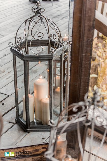 Joe's Prop House Grigio Lantern fit right into the setting and decor. Event Planner: Zeina Issa Event Planning and Design /// Photo credit: Bonnallie Brodeur Photography  /// Rentals & Decor: Joe's Prop House www.joesprophouse.com