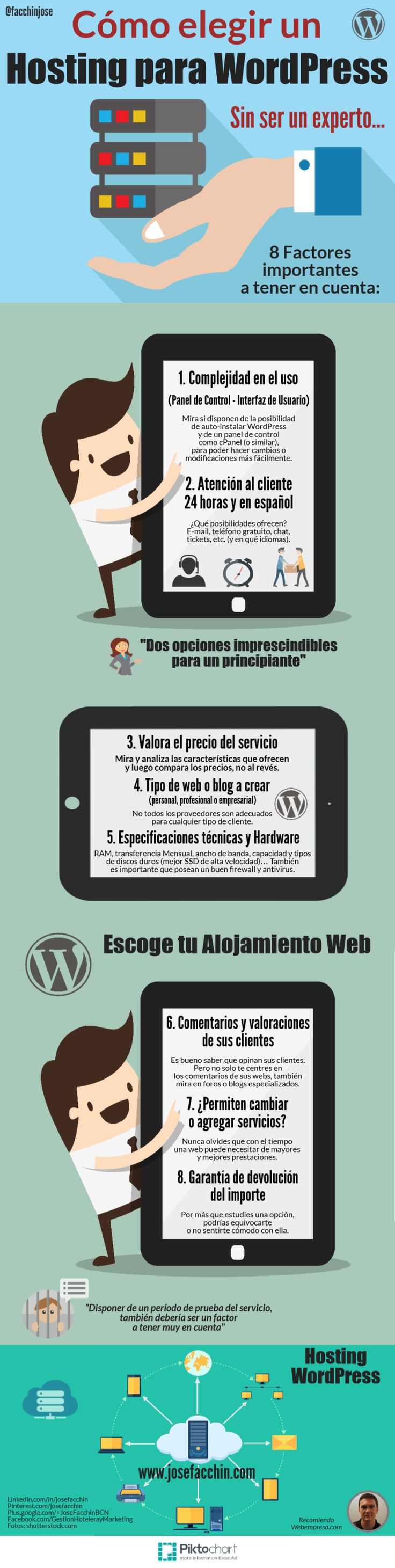 ¿Cómo elegir un Hosting para WordPress sin ser un experto? #infografia #infographic #WordPress