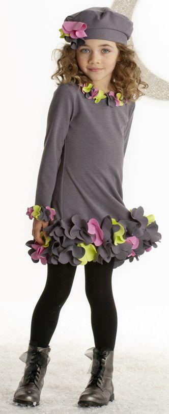 Biscotti Charcoal Gray Girls Urban Garden Dress