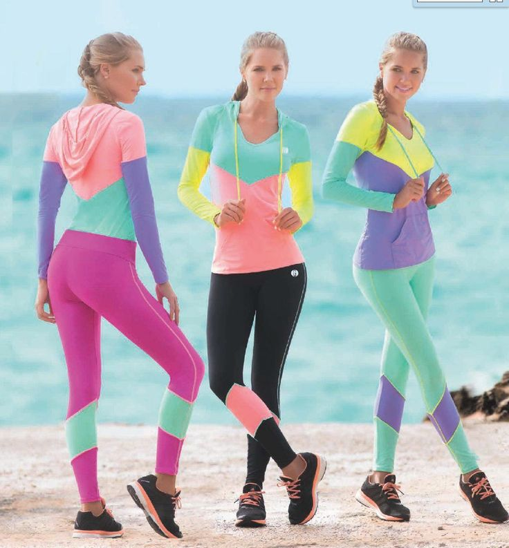 Garotas - Ref: 4794 Sweater and 4805 Leggings. Size:S-M-L-XL. Material: Microfiber Nylon - Spandex. Colours: Black, Royal Blue, Mint, Salmon, Lilac, Neon Fuchsia.